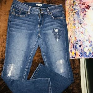 NY & Co Distressed Jeans